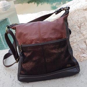 The Sak metallic leather crossbody bag